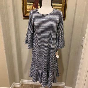 NWT! Lularoe Maurine Stripe Bell Sleeve Dress